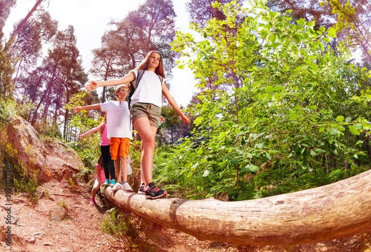 Adventurous Child - Log Walk - Clumsy